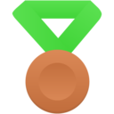 bronze metal green icon