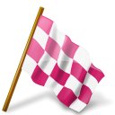 map, chequered, marker, pink, flag, right icon
