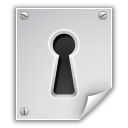 Encrypted, File, Hole, Key, Lock icon