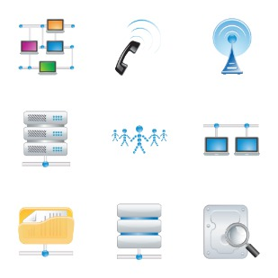 Internet connection icon sets preview