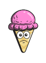 cone, cream, ice, emoji, cartoon icon