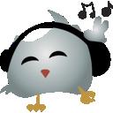 bird, twitter, headphines icon