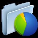 badged, chart, graph, folder icon
