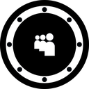 btn, social, music, myspace, rounded, network, circle icon