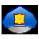 hat, police, policia, casco, agent, agente icon