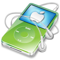 ipod, video, apple, green icon