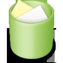 recycle bin, full, green, trash icon