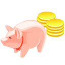 money,pig,luck icon