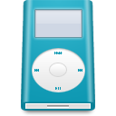 mini, blue, ipod icon