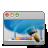 wallpaper, desktop, aqua icon