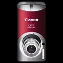 ixy, red, canon, l, digital icon