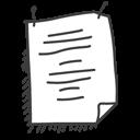 paper, texte, document, file icon