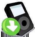 IPod black down icon