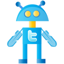 social, robot, social network, twitter, sn, twitterbot icon