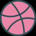 dribbble, logo, brand, social, network icon