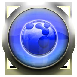 flock, blue icon