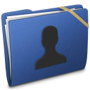 Blue Elastic User icon