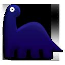 dinosaur, brontosaurus, cartoon icon