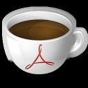 coffee, acrobat icon