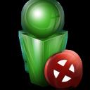 cancel, stop, no, green icon