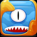 Blue block icon