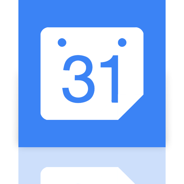 google, mirror, calendar icon