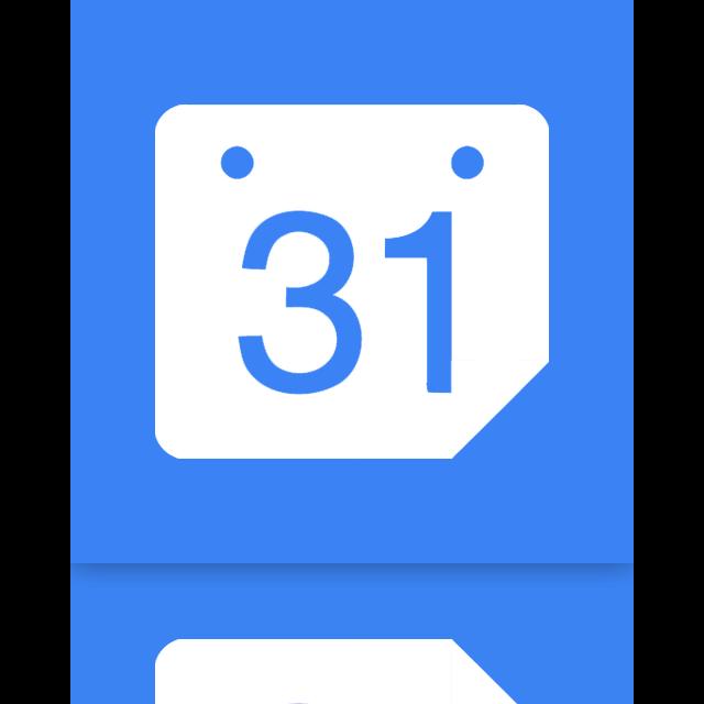 google, mirror, calendar icon