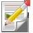 Content, Paper, Pencil icon