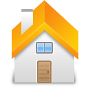 yellow, building, home, house icon