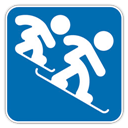 Cross, , Snowboard icon