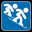 Cross, , Snowboard icon
