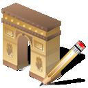 writing, arcodeltriunfo, edit, write icon