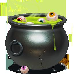piggybank, cauldron icon