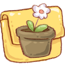 folder, flowerpot icon