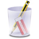 write, eraser, pencil icon