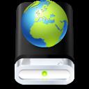 web, globe, drive icon