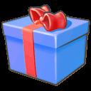 Blue, Giftbox icon