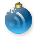 subscribe, christmas, blue, feed, rss icon