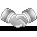 Conciliation, Grayscale icon