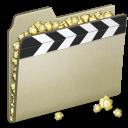 film, alt, video, movie, lightbrown icon