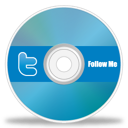twitter, disc, cd, dvd icon