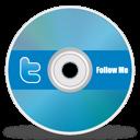 twitter, disc, cd, dvd icon