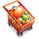 christmas,shopping,cart icon