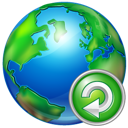 world, reload icon