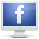 screen, computer, facebook, monitor icon
