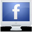 social network, facebook, monitor, sn, social, screen, display, computer icon