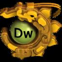 gold,dw icon
