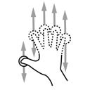 gestureworks, n, scroll, finger icon