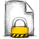 file, locked icon
