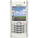 white, pearl, blackberry icon
